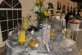 silver yellow and white candy buffet charity event photos sweet the watchthetrailerfo best decoration table buffet contemporary joshkrajcik round