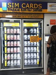 Japan Sim Card Vending Machine Impressive Mobile SIM Your Japan Journey