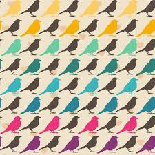 Bird Pattern Simple Colorful Birds Pattern Art Print By Mrs Opossum Society48