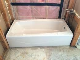 kohler cast iron tubs villager tub specs ft right drain rectangular alcove cast iron bathtub biscuit