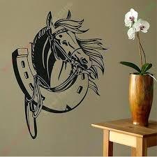 horseshoe wall art free whole vinyl horse shoe art mural wall decals stylish wall stickers