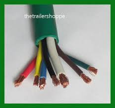 trailer light cable wiring harness 7 wire jacketed green flexible image is loading trailer light cable wiring harness 7 wire jacketed