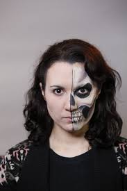 how to create a half face skull face paint design facepaint you