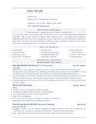 Police Administration Sample Resume Resume Cv Cover Letter