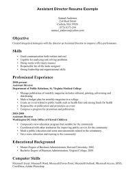 Resume Skills Example