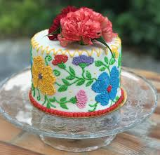 homemade birthday cake decorating ideas inspirational stunning homemade mexican embroidery cake design