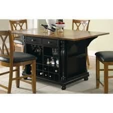 Coaster Cherry/ Black Color Kitchen Island   102270