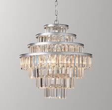 restoration hardware baby lighting. alaine crystal medium pendant aged silver restoration hardware baby lighting