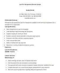 Resume Sample Doc Amazing Receptionist Sample Resume Sample Resume For Receptionist