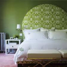 good looking green and white bedrooms for your interior ideas charming green wall painting for