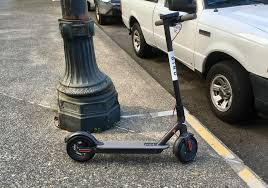 portland s e scooter trial rolling along and ring up