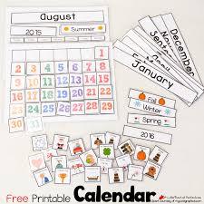 Free Printable School Calendar Cute Free Printable Calendar For Circle Time With Kids