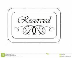 reserved sign templates free sign templates clipart 52