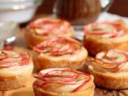 glazed puff pastry apple roses the