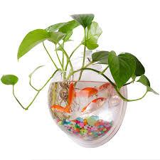 Wall Mounted Fish Tank Light Amazon Com Qwsmlxh Wall Mounted Fish Tank Wall Vase Pot