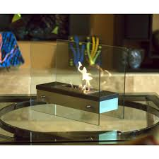 decorative tabletop bio ethanol fireplace in stainless steel