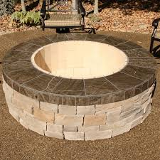 G Large Wood Burning Fire Pit Pits Outdoor  Kits Stone