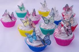 Butterflies Edible 20pc Cupcake Toppers Cake Decoration Birthday