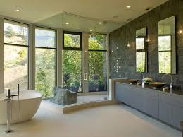 modern master bathrooms. Modern Style Master Bathroom Opens To Hollywood Hills View Clean Lines Design Rock Earth Element Bathrooms