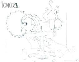 boondocks coloring pages s hair trouble free printable boondocks coloring