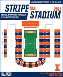Illini Stadium Seat Chart University Of Illinois Football Stadium Seating Chart Best
