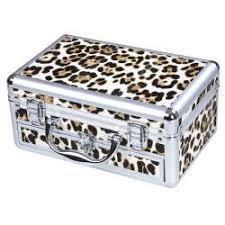 print makeup bag china mini leopard aluminum pvc makeup case cosmetic train w mirror drawer on