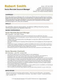 Senior Recruiter Resume Samples Qwikresume
