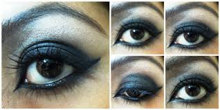 with emo eye makeup keep the rest of the face makeup to minimum use no blush or very natural shade and go for n de lips to plete the look