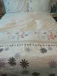 details about debenhams embroidered quality king size duvet cover and 2 pillow case set
