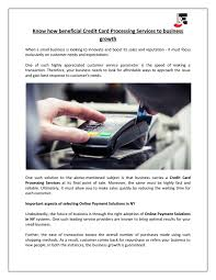 Online credit card processing for small business. Know How Beneficial Credit Card Processing Services To Business Growth By J E Business Consulting Llc Issuu