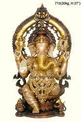decorative ganesha statues brass figures ganesha statue home
