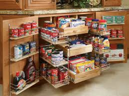 Pull Out Kitchen Pantry With Racks In The Cabinet Doors Kitchen