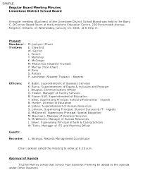 Board Meeting Format Sample Agenda Template For Advisory School Age