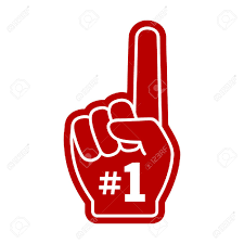 Number 1 One Fan Hand Glove With Finger Raised Flat Vector Icon ...