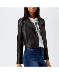 armani exchange black nappa leather jacket lyst