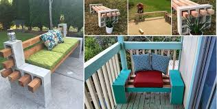 diy cinder block outdoor furniture. DIY Cinder Block Bench. Making A Beautiful Piece Of Decoration For Your Garden Can Be Difficult. Luckily, You Have Website Like This To Give Helping Diy Outdoor Furniture C