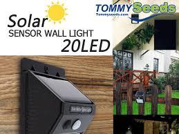 led solar power pir motion sensor wall light outdoor waterproof energy saving street yard path home