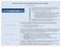 project management quick reference guide project web access quick reference guide for team members
