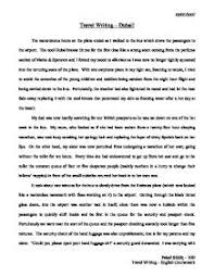 travel writing dubai gcse english marked by teachers com page 1 zoom in