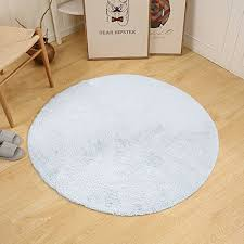 softlife round bathroom rug soft tufted area rugs for living room bedroom white 4 diameter