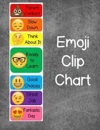 Emoji Behavior Clip Chart Worksheets Teaching Resources Tpt