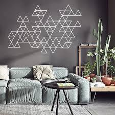 Home Decoration Accessories Wall Art Magnificent Creative Geometric Vinyl Wall Sticker Modern Minimalist Home
