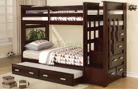 full size of bedroom espresso bunk bed with steps and trundle plus drawers espresso bunk