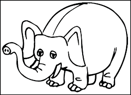 Coloring Pages For Kids Elephant Cute Elephant Coloring Pages Baby