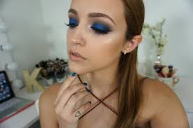 best metallic blue eyes makeup pics for brown hair and por concept makeup for brown hair