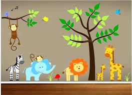safari wall decals for nursery jungle zoom theme dec