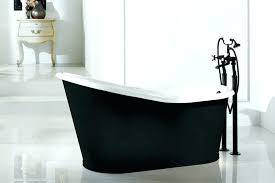 small freestanding tub cast with shower