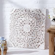 carved wooden wall panel distressed white co uk kitchen intended