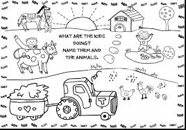 Farm Coloring Pages For Kids Printable With Farm Animals Coloring