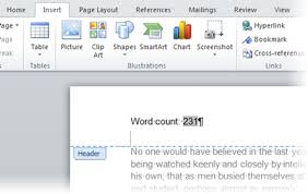 word essay counter 2595 how can i automatically insert the word count into my word